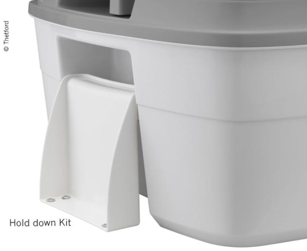 PORTA POTTI TYPE 335 MED HOLD DOWN KIT HVIT