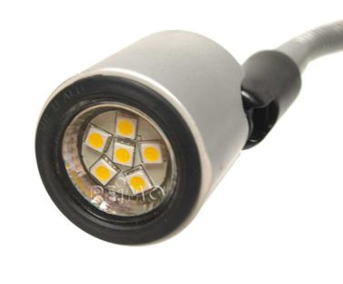 super popular ff3c2 46ac0 LED 12V LESELAMPE, 1W, MATT SØLV, 130 MM, FESTEANORDNING SB