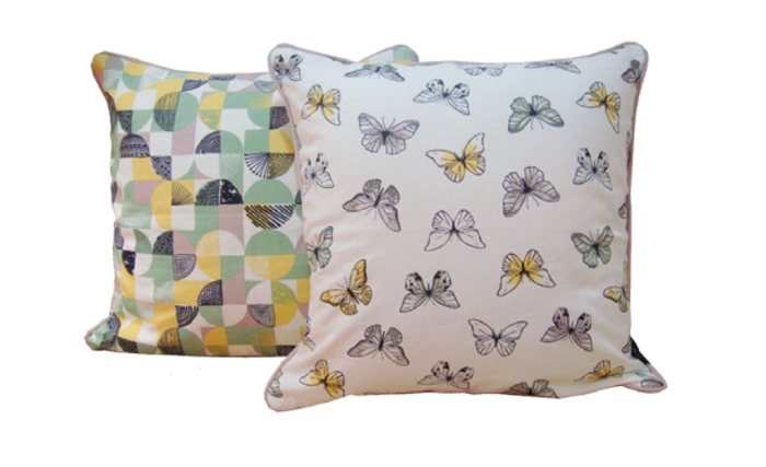 PYNTEPUTE BUTTERFLIES 45X45 CM 100% bomull T13-53A